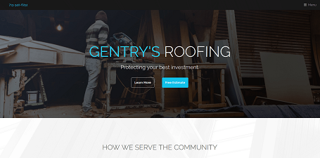 Gentry's Roofing - Voyage Digital Marketing Project